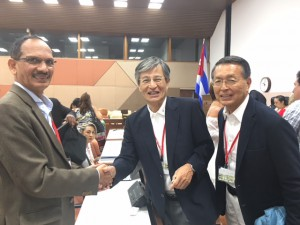 第6回キューバ生体エネルギー・自然医療学会国際会議の開会式に出席